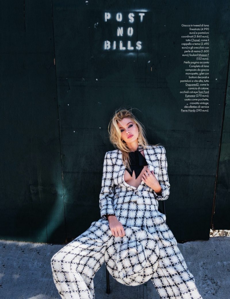 Stella Maxwell Poses in Garconne Looks for ELLE Italy