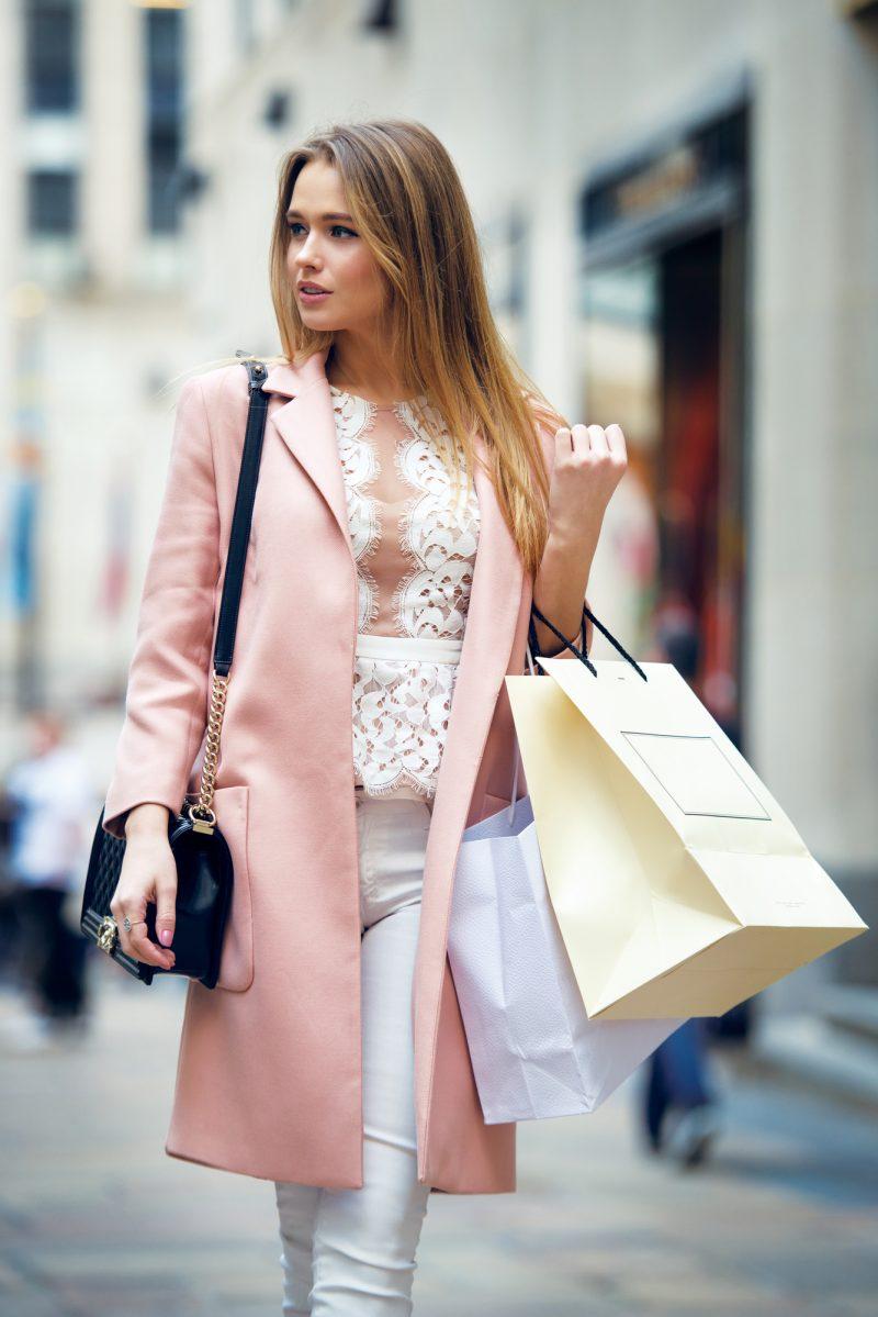 Stylish Woman Shopping in New York