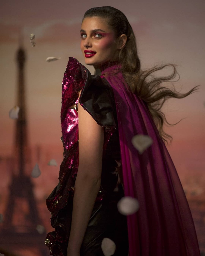 BEHIND THE SCENES: Taylor Hill on set of Lancome Halloween shoot
