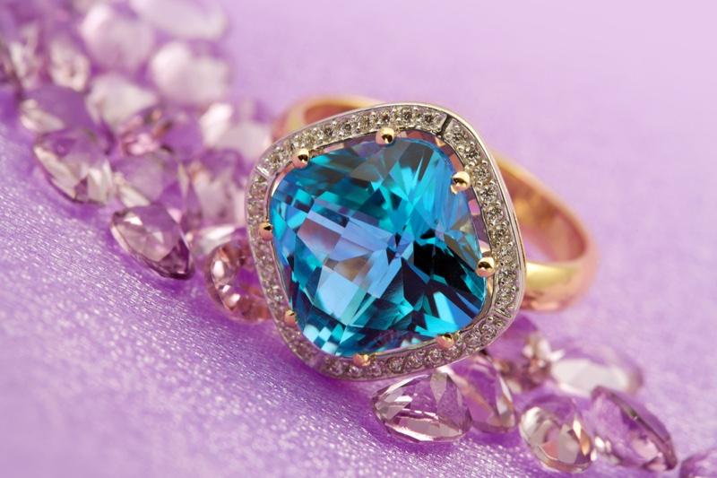 Topaz Ring Gemstone Jewelry Closeup