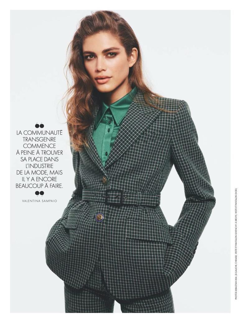 Valentina Sampaio Wears Elegant Looks for ELLE France