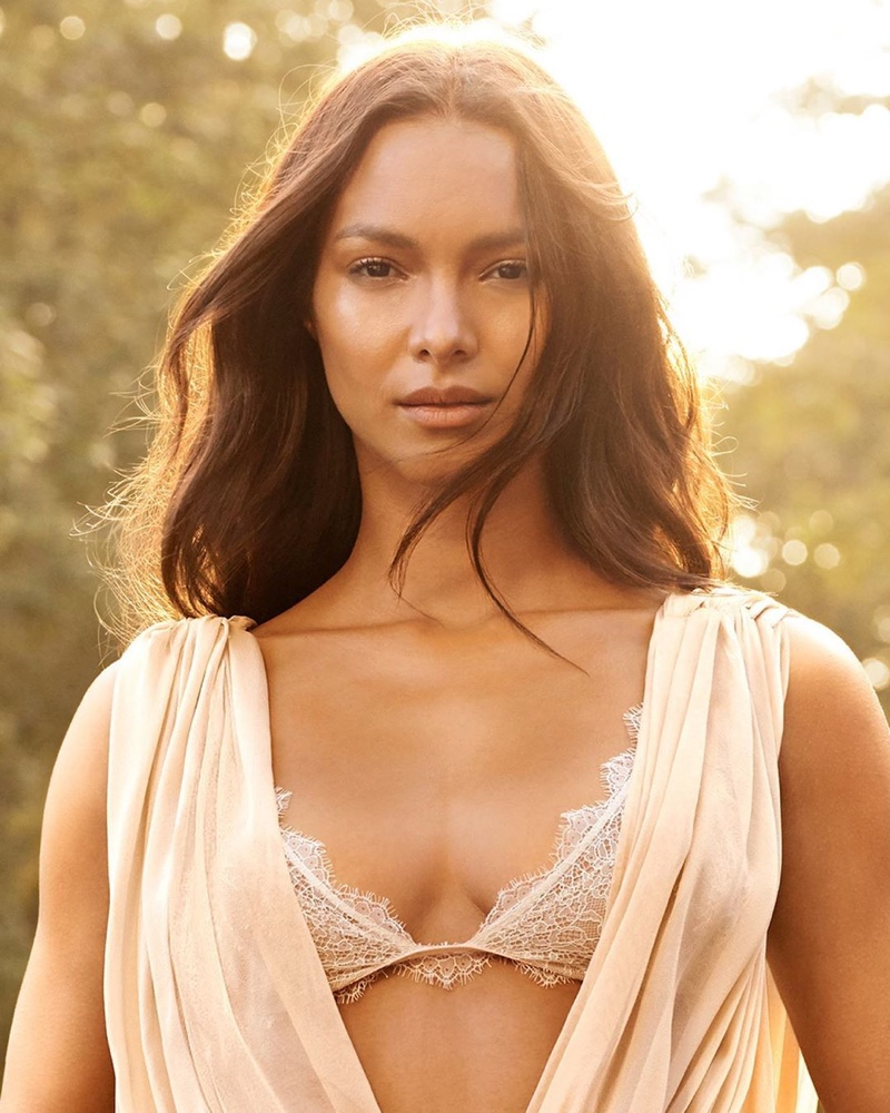 Model Lais Ribeiro poses for Victoria's Secret Heavenly fragrance campaign