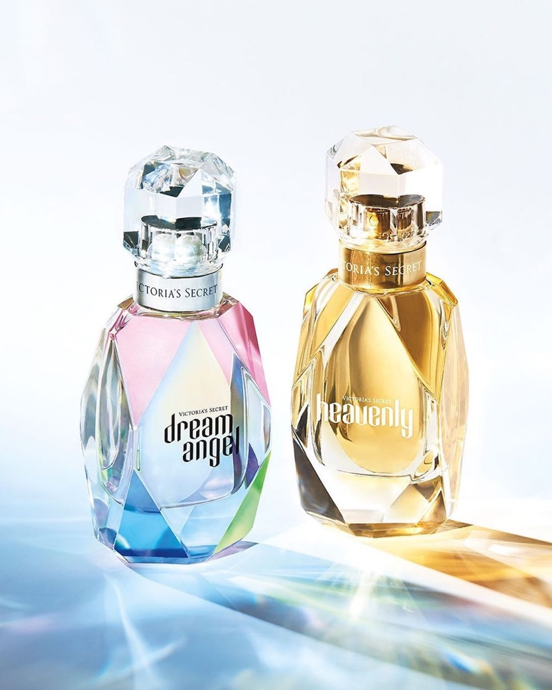 A look at Victoria's Secret Dream Angel and Heavenly fragrance bottles