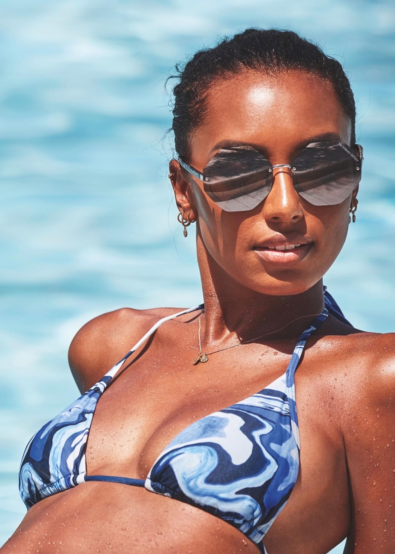 Jasmine Tookes fronts Victoria's Secret resort 2019 swimwear campaign