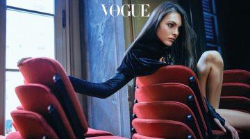 Vittoria Ceretti Strikes a Pose in Louis Vuitton for Vogue Korea