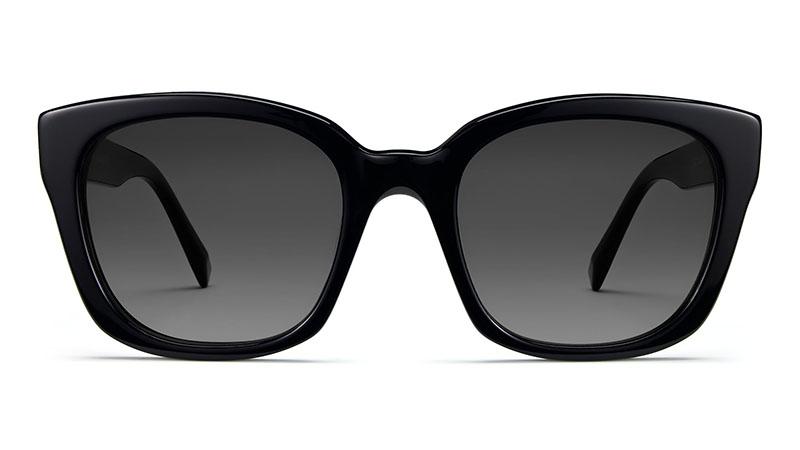 Warby Parker Aubrey Narrow Sunglasses in Jet Black $175