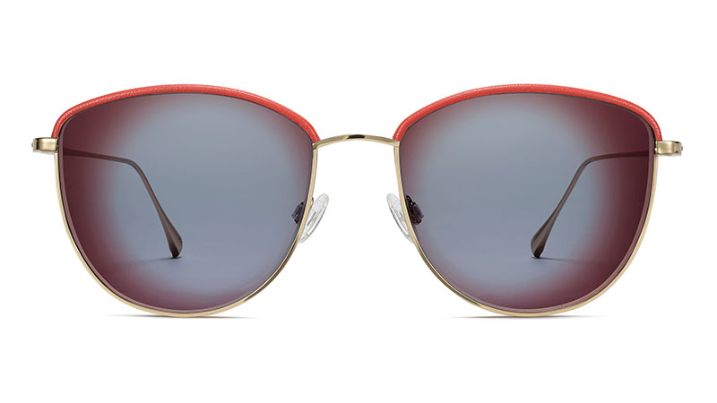 Warby Parker Inez Sunglasses in Polished with Gold Ruby $195