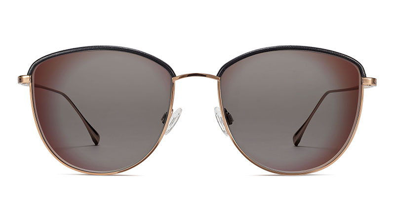Warby Parker Inez Sunglasses in Rose Gold with Onyx $195