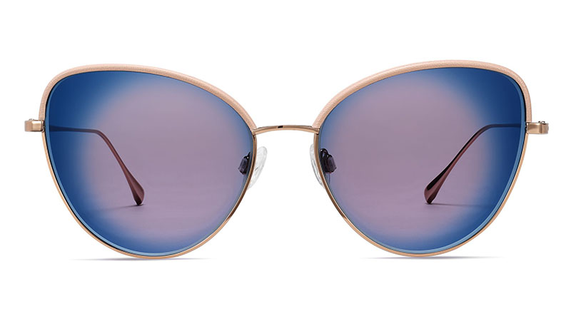 Warby Parker Nadine Sunglasses in Rose Gold with Flamingo $195