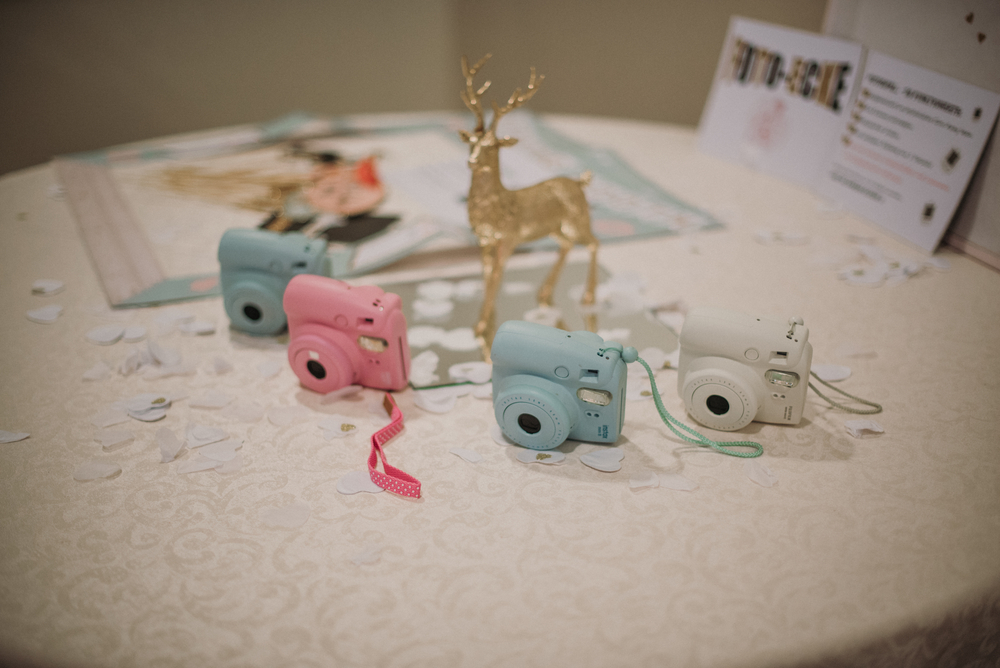 Wedding Table Polaroid Cameras