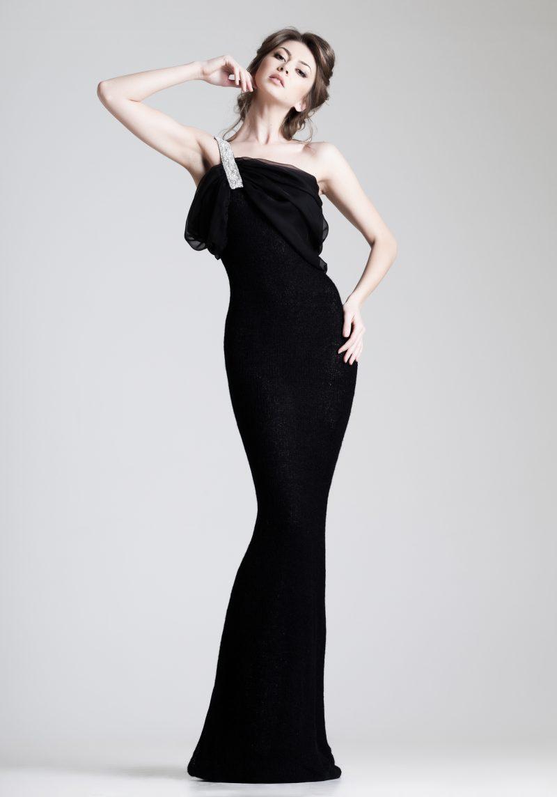 Woman Black Gown