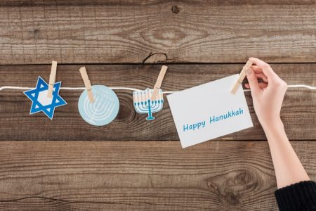 Woman's Hand Hanukkah Decorations