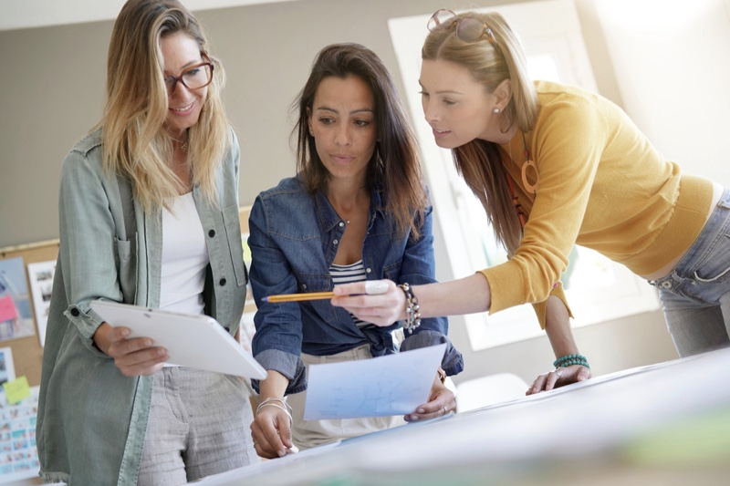 Women Designers Working Project Job