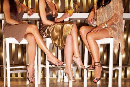 Women's Legs Bar Party Dresses Heels