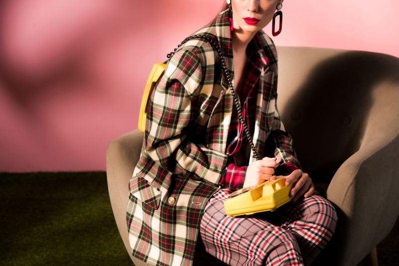 Womens Vintage Style Check Prints