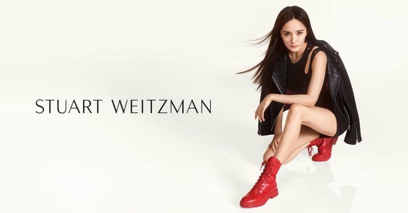 Yang Mi wears Stuart Weitzman MCKENZEE boot in fall-winter 2019 campaign