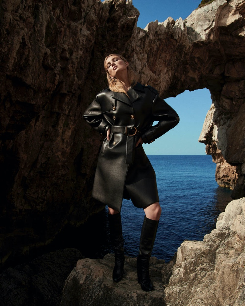 Ymre Stiekema Dresses in All-Black for ELLE Germany