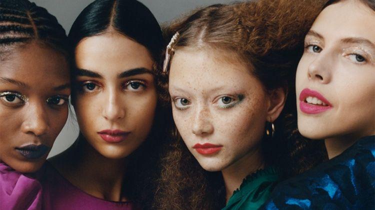 Elibeidy Dani, Nora Attal, Sara Grace Wallerdst and Lea Julian star in Zara TRF Overbold fall-winter 2019 editorial
