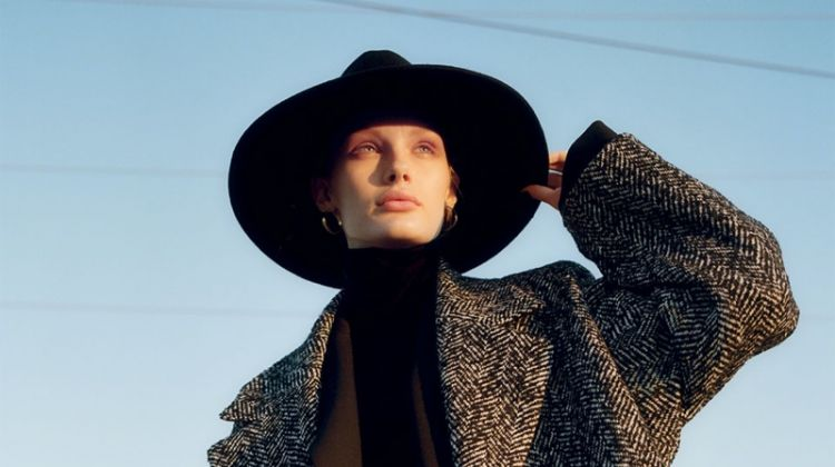 Kris Grikaite Goes West in Zara's Fall Coats