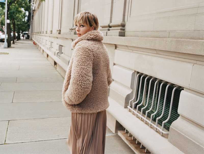 Edie Campbell fronts Zara Keep It Uptown fall-winter 2019 editorial