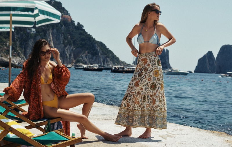 Grace Elizabeth and Abby Champion star in Zimmermann resort 2020 campaign