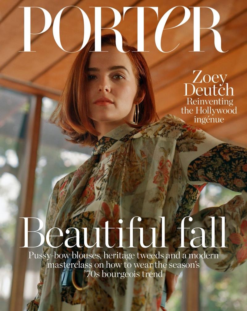 Zoey Deutch on PORTER Edit October 4th, 2019 Cover