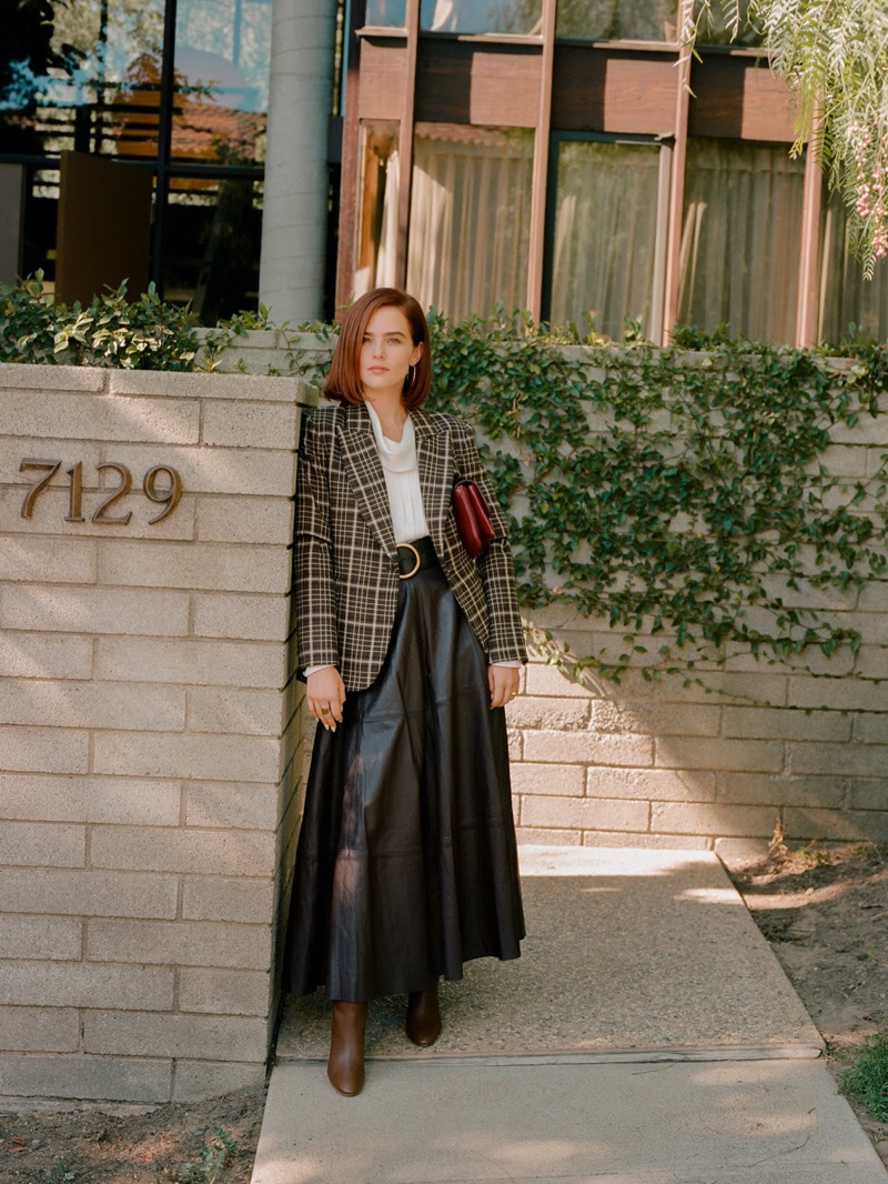 Dressed in chic looks, Zoey Deutch poses for PORTER Edit