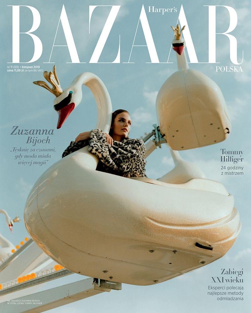 Zuzanna Bijoch Looks Stylish at the Fair for Harper's Bazaar Poland