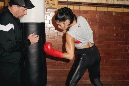 Adriana Lima Delivers a Stylish Punch for PUMA Collaboration