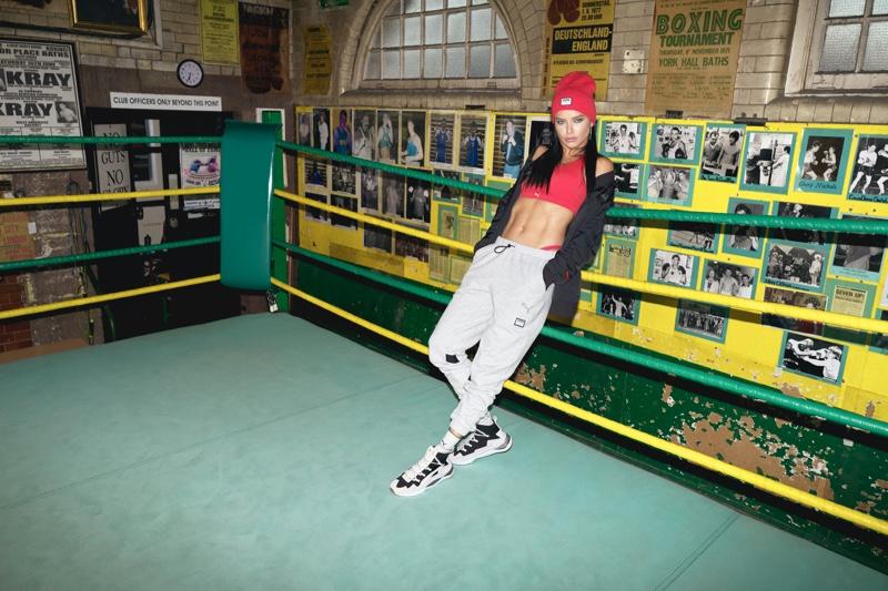 PUMA x Adriana Lima collection campaign