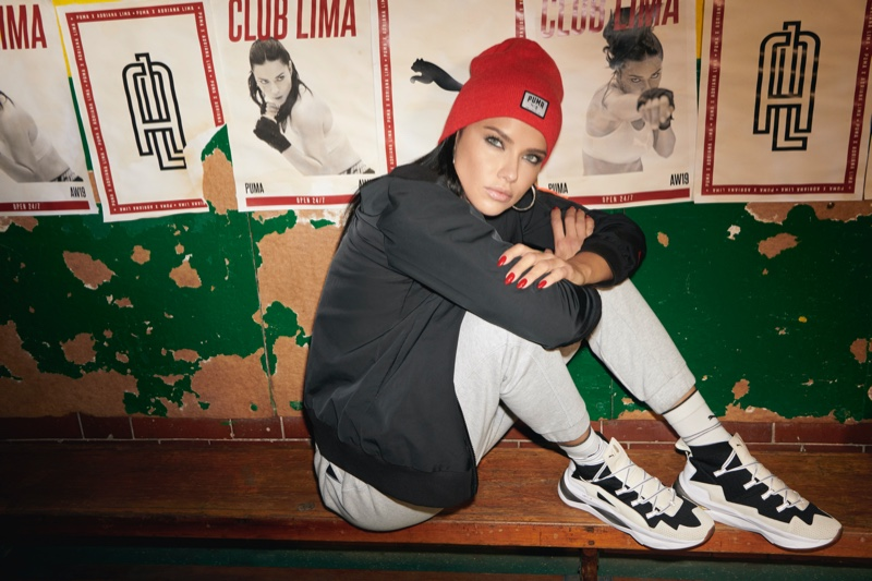 Supermodel Adriana Lima goes sporty in her PUMA collaboration