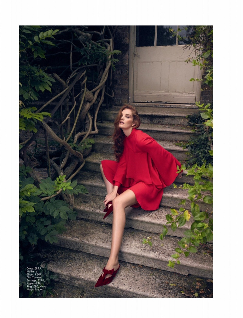 Alexina Graham Poses in Rosy Shades for Hello! Fashion