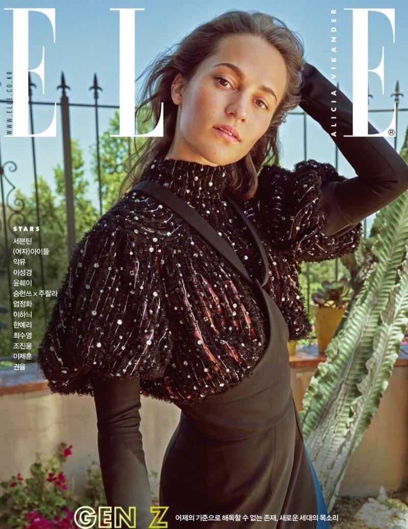 Actress Alicia Vikander on ELLE Korea November 2019 Cover