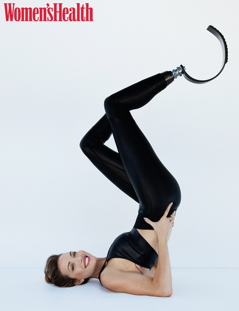 Paralympian Amy Purdy wears sporty chic looks for the photoshoot