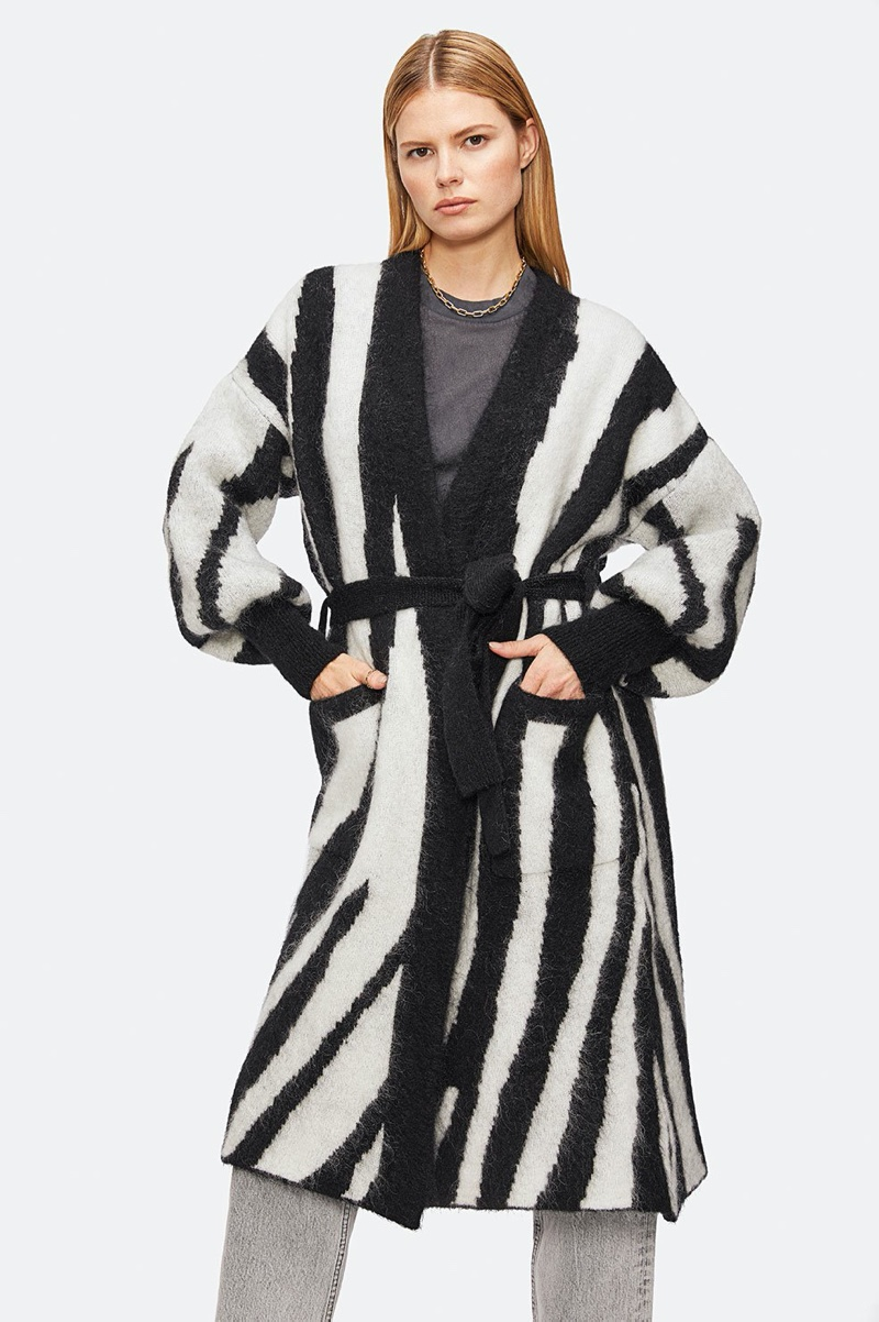Anine Bing Oliver Cardigan in Zebra $399