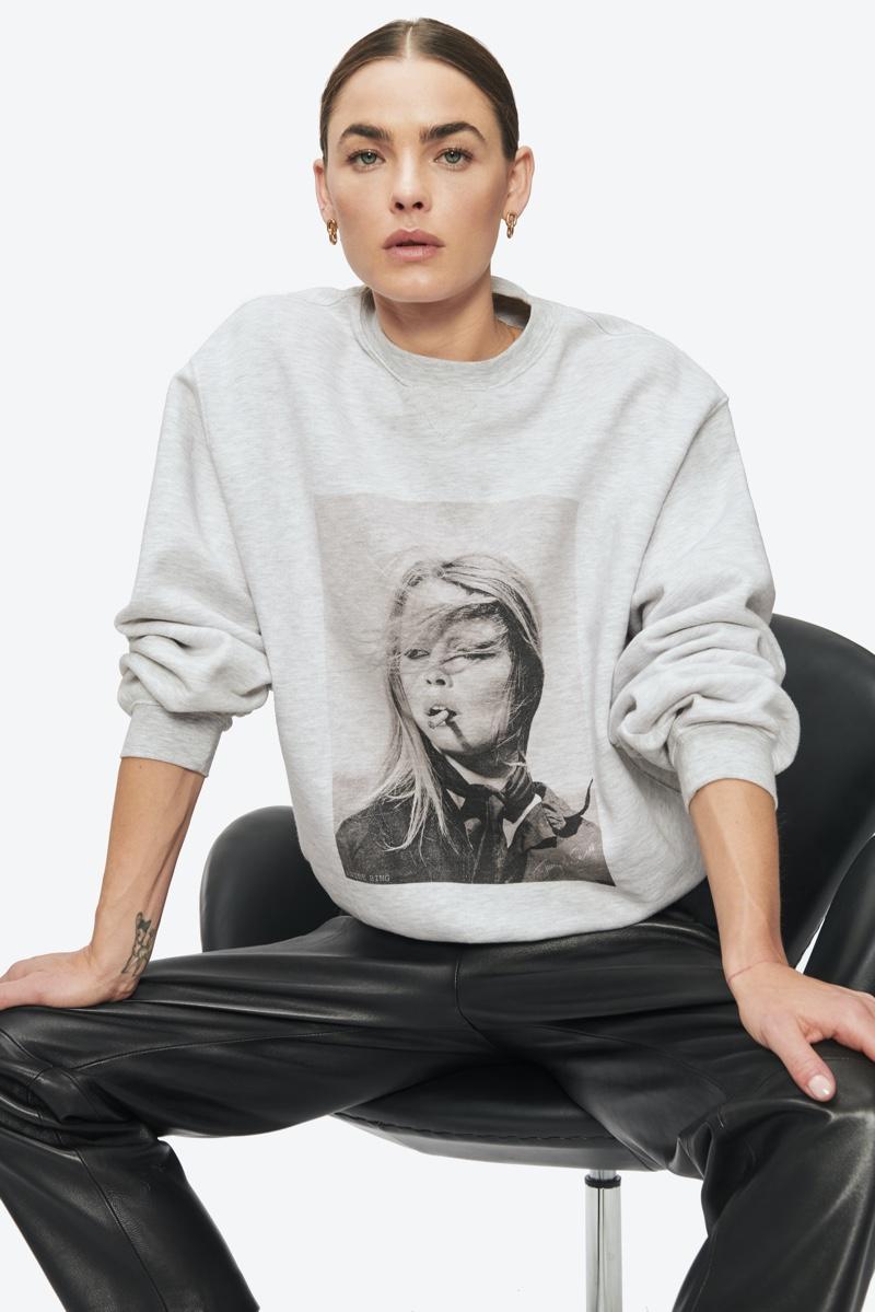 Anine Bing x Terry O'Neill Ramona Sweatshirt $169