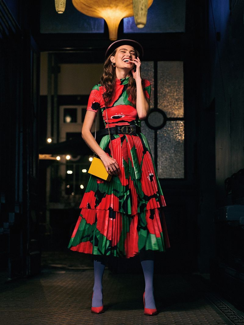 Anna Mila Guyenz Embraces Night Out Dresses for ELLE Serbia