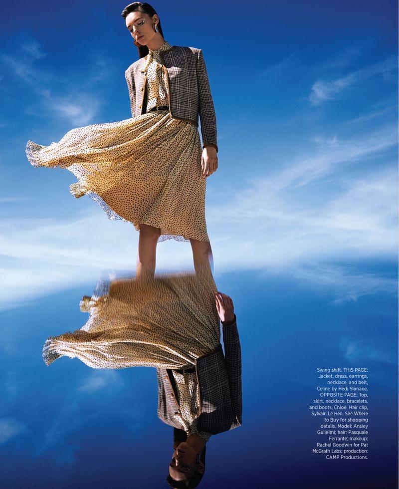 Ansley Gulielmi Models Cutting-Edge Fashion for Harper's Bazaar