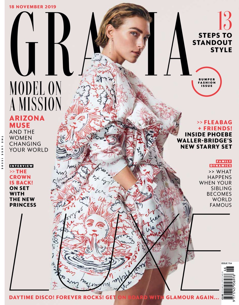 Arizona Muse Takes the Spotlight for Grazia UK