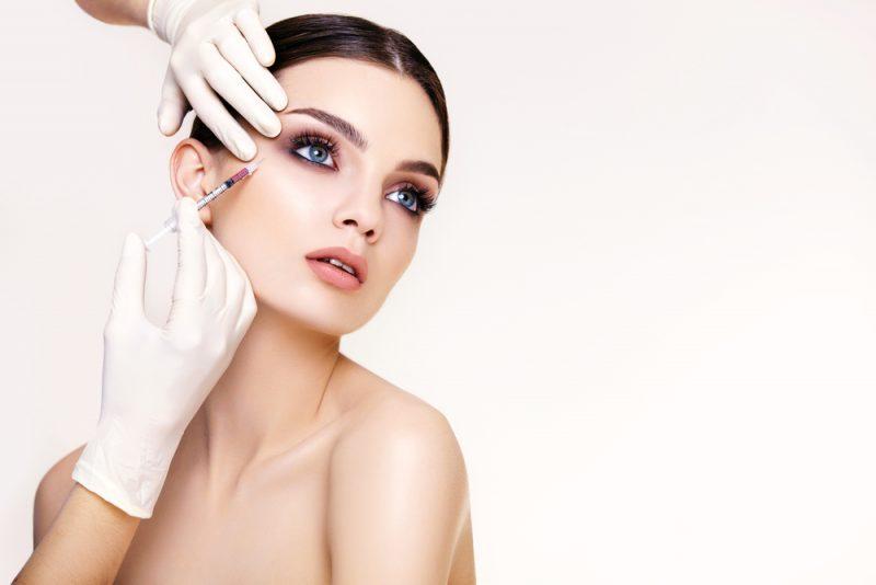 Beauty Model Botox Needle