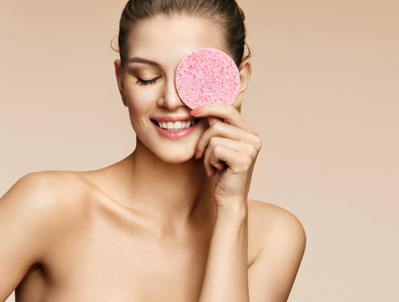 Beauty Woman Smiling Sponge