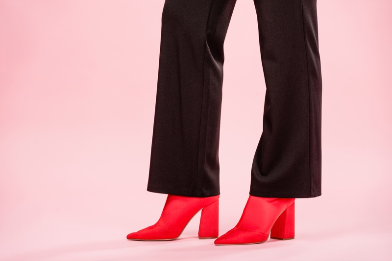Black Pants Red Boots Cropped