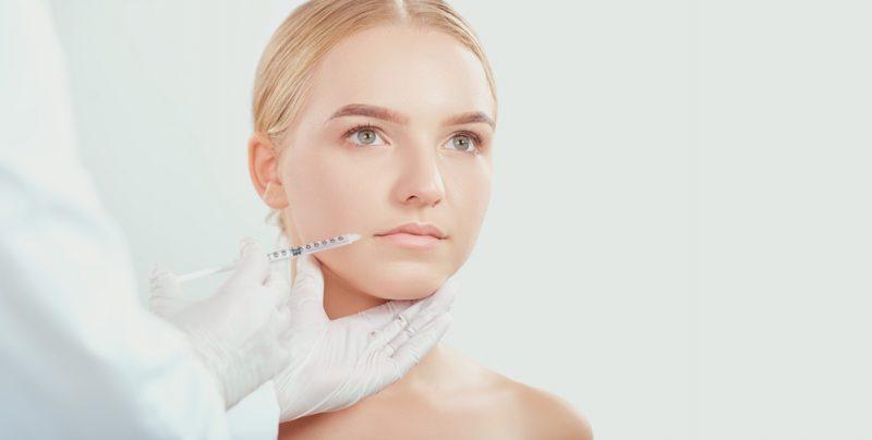 Blonde Woman Botox Needle