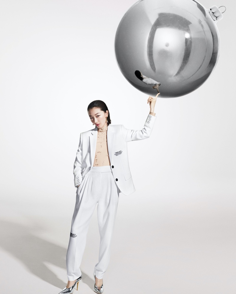 Actress Zhou Dongyu appears in Burberry Holiday 2019 campaign