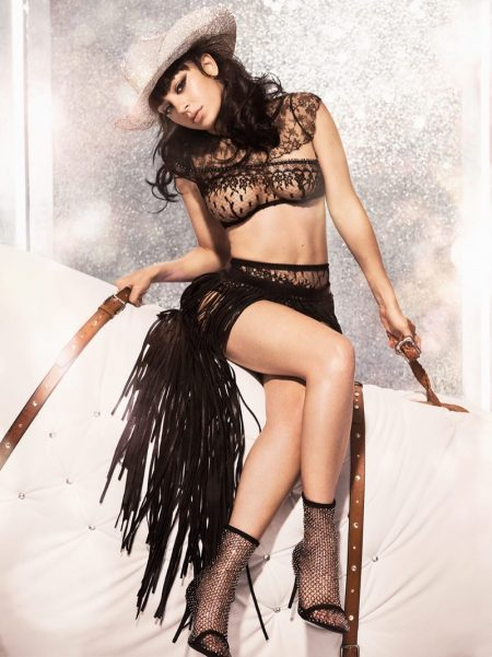 Charli XCX is a Rhinestone Cowgirl for Agent Provocateur Campaign