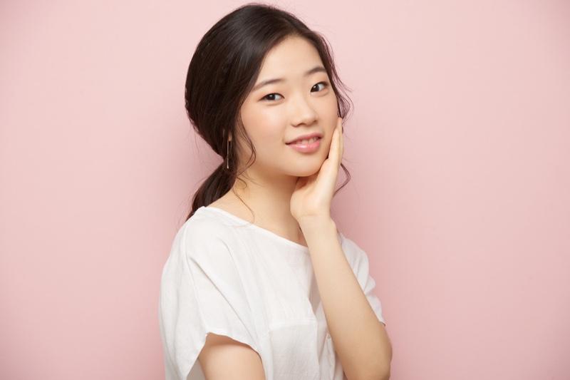 Clear Skin Asian Model