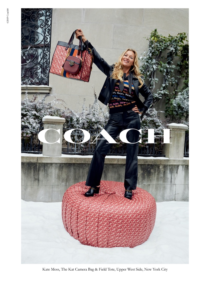 Supermodel Kate Moss appears in Coach Wonder for All holiday 2019 campaign