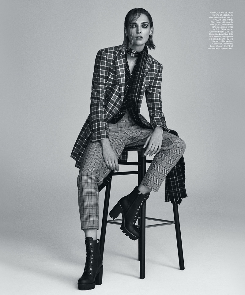 Daga Ziober Embraces Plaid Style for Gotham Magazine