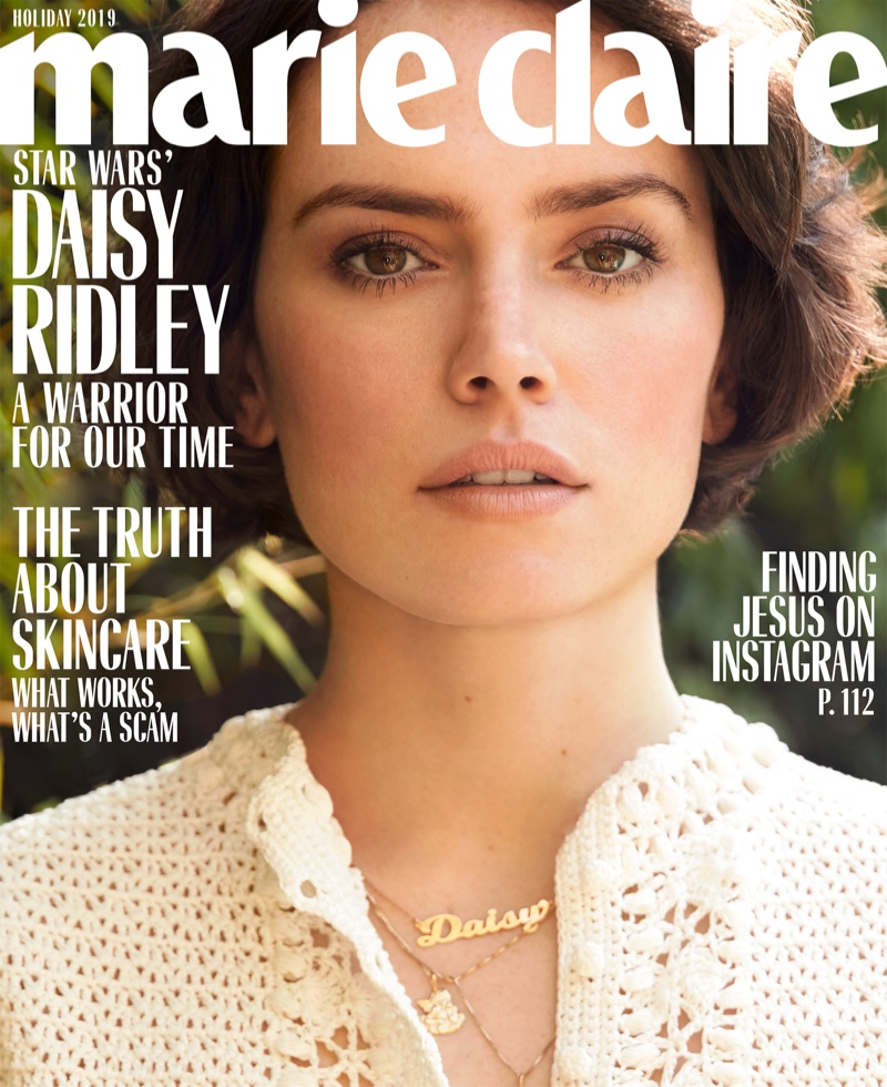 Daisy Ridley on Marie Claire US Holiday 2019 Cover