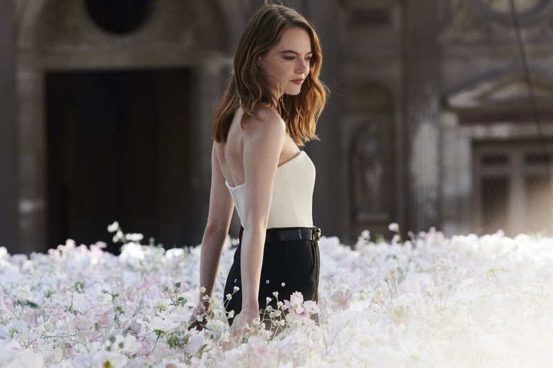 BEHIND THE SCENES: Emma stone on set of Louis Vuitton Coeur Battant fragrance shoot